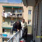 riparazione terrazzi su corda
